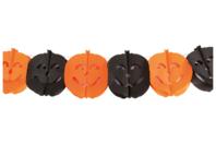 Guirlande de citrouilles en papier - 3 m - Halloween - 10doigts.fr