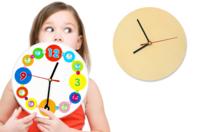Horloge ronde en bois - Horloges - 10doigts.fr