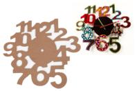 Cadran horloge bois MDF - Horloges - 10doigts.fr