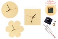 Horloges en bois - Set de 3 formes assorties - Horloge - 10doigts.fr