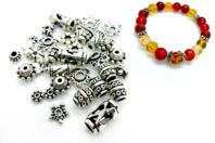 Perles charm's intercalaires argent vieilli - 36 perles - Perles intercalaires - 10doigts.fr
