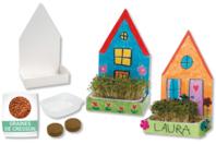 Maisons jardinières - Lot de 6 - Supports blancs - 10doigts.fr