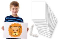 Grandes cartes + élastiques spéciaux - Lot de 10 - Masques - 10doigts.fr