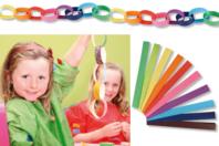Bandelettes collantes pour guirlandes - 200 Bandes - Ballons, guirlandes, serpentins - 10doigts.fr