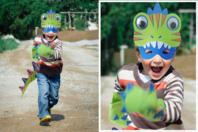 Kit déguisement dinosaure - Mardi gras, carnaval - 10doigts.fr