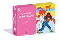 Coffret Sport 2 - Activité Sables colorés - Coffret Sable coloré - 10doigts.fr