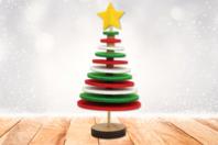 Kit sapin de Noël en feutrine - Activités de Noël en kit - 10doigts.fr