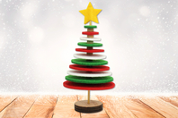 Kit sapin de Noël en feutrine - Kits d'activités Noël - 10doigts.fr