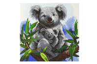 Kit tableau broderie diamant Koala - 30 x 30 cm - Broderie Diamant - 10doigts.fr