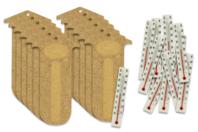"""Kit thermomètre (pour 12 réalisations) - Kits activités """"Cadeau à offrir"""" - 10doigts.fr"""