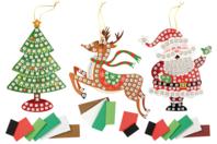 Suspension de Noël avec mosaïques - Activités de Noël en kit - 10doigts.fr