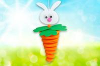 """Suspension """"lapin-carotte"""" - Kits activités de Pâques - 10doigts.fr"""