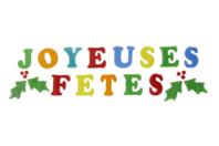 """Lettres gel """"Joyeux Noël"""" pour fenêtres - Décorations pour vitres - 10doigts.fr"""