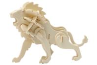 Lion 3D en bois naturel à monter - Maquettes en bois - 10doigts.fr