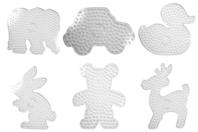 Plaques pour perles à repasser XXL - 6 formes - Perles Fusibles 1 cm - 10doigts.fr