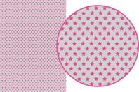 Magic Paper auto-adhésif Etoiles roses sur fond gris - Washi paper / Magic paper - 10doigts.fr