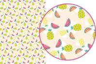 Magic Paper auto-adhésif Fruits exotiques - Décorations Printemps - Eté - 10doigts.fr
