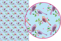 Magic Paper auto-adhésif Oiseaux - Washi paper / Magic paper - 10doigts.fr
