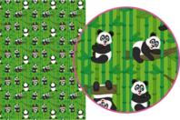 Magic Paper auto-adhésif Pandas - Décorations Printemps - Eté - 10doigts.fr