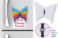 Magnets papillon - Lot de 6 - Support blanc - 10doigts.fr