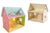 Maison en bois naturel à monter - Maquettes en bois - 10doigts.fr