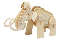 Mammouth 3D en bois naturel à monter - Maquettes en bois - 10doigts.fr