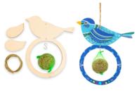 Mangeoires pour oiseaux + boules de graisse - Lot de 6 - Kits activités Nature - 10doigts.fr