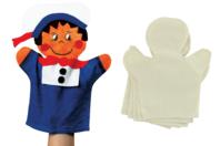 Marionnettes en coton - Lot de 6 - Coton, lin - 10doigts.fr