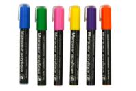 Marqueurs peinture acrylique - 6 couleurs - Feutres Marqueurs Dessin - 10doigts.fr