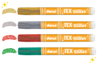 Marqueur peinture Textile - Couleurs Pailletées - Peintures et marqueurs pour tissus - 10doigts.fr
