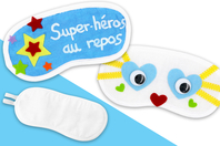 Masque de sommeil à décorer - Coton, lin - 10doigts.fr