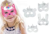 Masques licorne à décorer - Set de 4 - Mardi gras, carnaval - 10doigts.fr