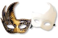 """Masque vénitien rigide forme """"asymétrique"""" - Masques - 10doigts.fr"""