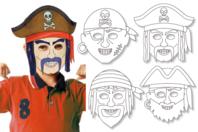 Masques pirates à décorer - Set de 4 - Mardi gras, carnaval - 10doigts.fr