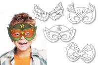 Masques super héros à décorer - Set de 4 - Mardi gras, carnaval - 10doigts.fr