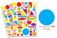 Maxi gommettes géométriques, formes assorties - 2 planches - Gommettes Géantes - 10doigts.fr