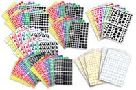 Gommettes assorties - Set de 7000 - Toutes les gommettes géométriques - 10doigts.fr