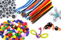 Mega pack créatif : pompons, chenilles et yeux mobiles assortis - Chenilles, cure-pipe - 10doigts.fr
