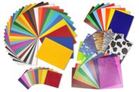 Papiers de Bricolage - Maxi pack 164 feuilles - Papiers Unis - 10doigts.fr