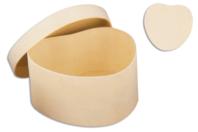 Boîte coeurs en bois 8 cm - Boîtes et coffrets - 10doigts.fr