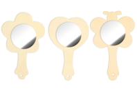 Miroir coeur, fleur ou papillon - Miroirs en bois - 10doigts.fr