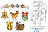 Mobiles de Pâques à colorier - Lot de 4 - Support pré-dessiné - 10doigts.fr