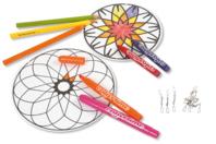 Mobiles Mandala à décorer - Support pré-dessiné - 10doigts.fr