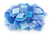 Mosaïques en pâte de verre- Camaïeu Bleu - Mosaïques pâte de verre - 10doigts.fr