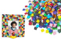 Mosaïques en carte forte - 5000 pièces - Mosaïques en papier, carton et mousse - 10doigts.fr