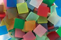 Mosaïque Acrylique - Finition translucide mate (aspect givré) - Mosaïques résine acrylique - 10doigts.fr
