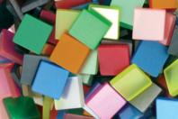 Mosaïques en résine acrylique opaques brillantes - Mosaïques résine acrylique - 10doigts.fr