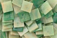 Mosaïques acrylique marbrées - Camaïeu de verts - Mosaïques résine acrylique - 10doigts.fr