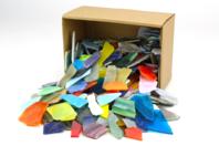 Mosaïques multicolores en verre poli - 2 kg - Mosaïques verre - 10doigts.fr