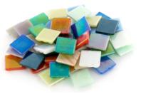 Mosaïques en pâte de verre irisées - 50 facettes assorties - Mosaïques pâte de verre - 10doigts.fr